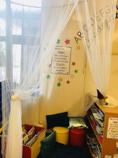book corner for primary school classroom