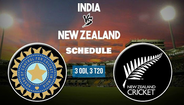 Schedule for New Zealand tour of India 2017