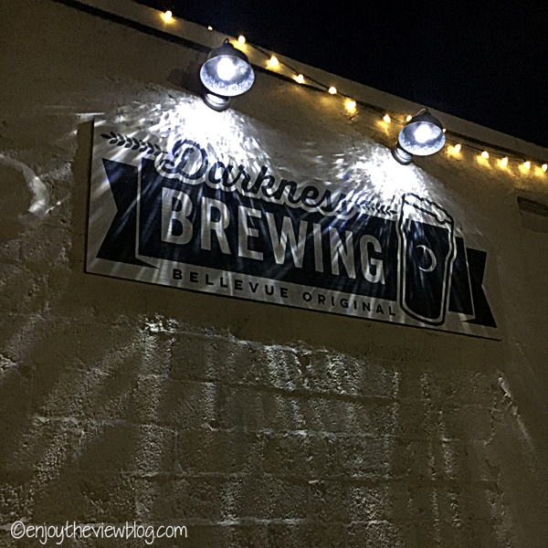 Darkness Brewing sign on building