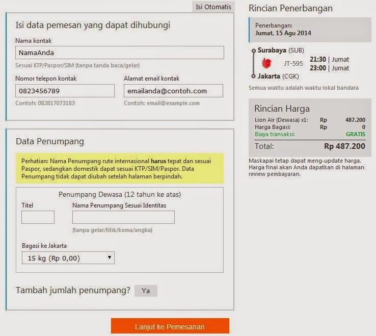 Cara Pesan Tiket Pesawat Online 8