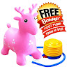 ToysOpoly Inflatable Bouncer Seat - Best for Physical Therapy, Increase Balance and Agility, Eco-Friendly + Free Foot Pump, Easy to Inflate (Pink)