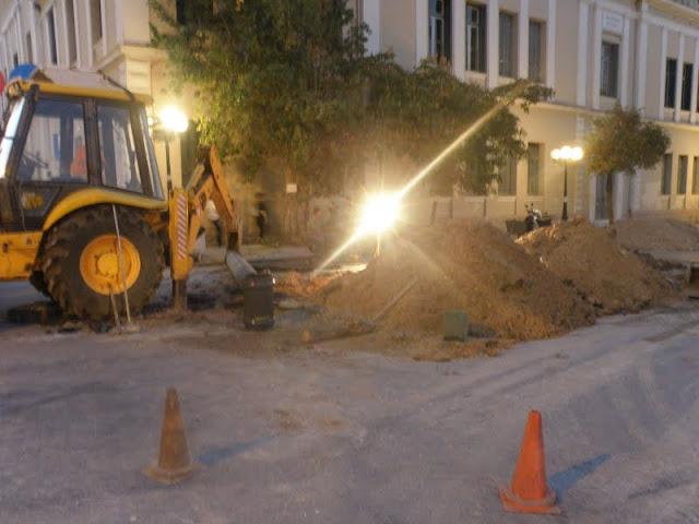 Σοβαρή βλάβη στο κεντρικό αγωγό ύδρευσης στο Ναύπλιο