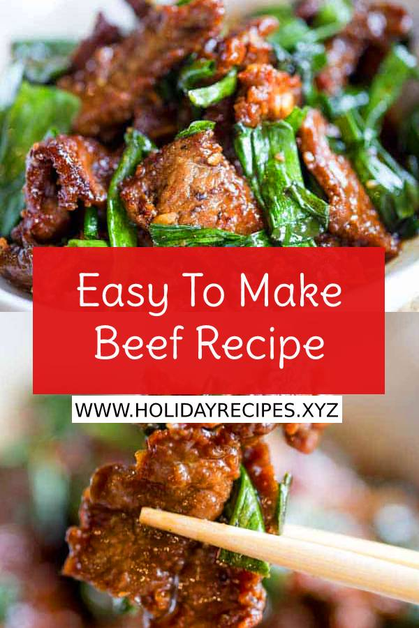 Easy To Make Beef Recipe - These is easy to make in just 30 minutes, crispy, sweet and full of garlic and ginger flavors you love from your favorite Chinese restaurant. #easydinnerrecipe #easydinner #beefrecipe #beef #easybeefrecipe #maindish #dish #whole30 #whole30recipe