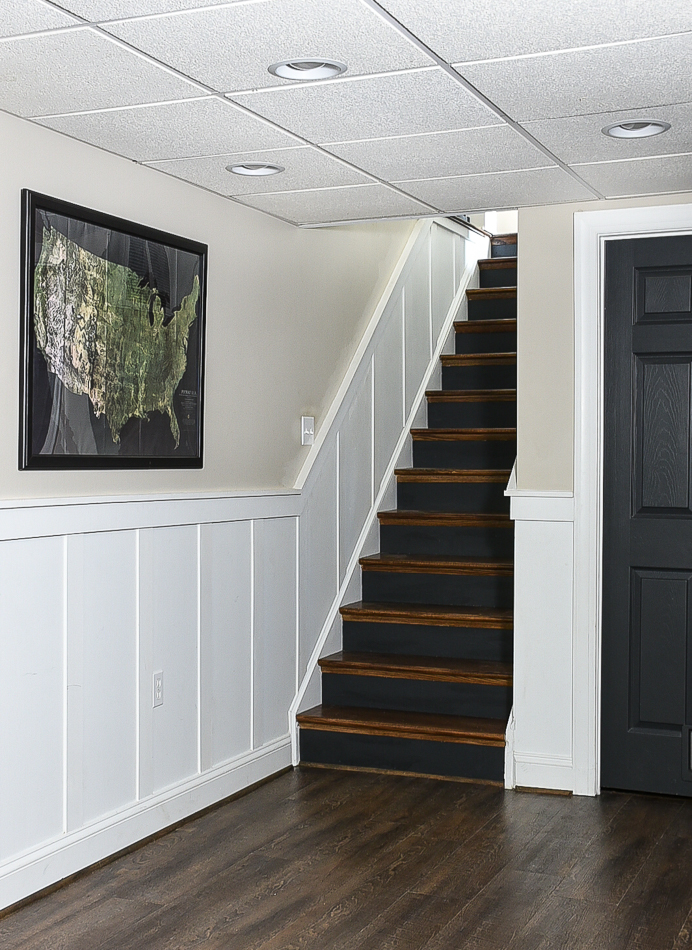 Iron Ore painted stair risers