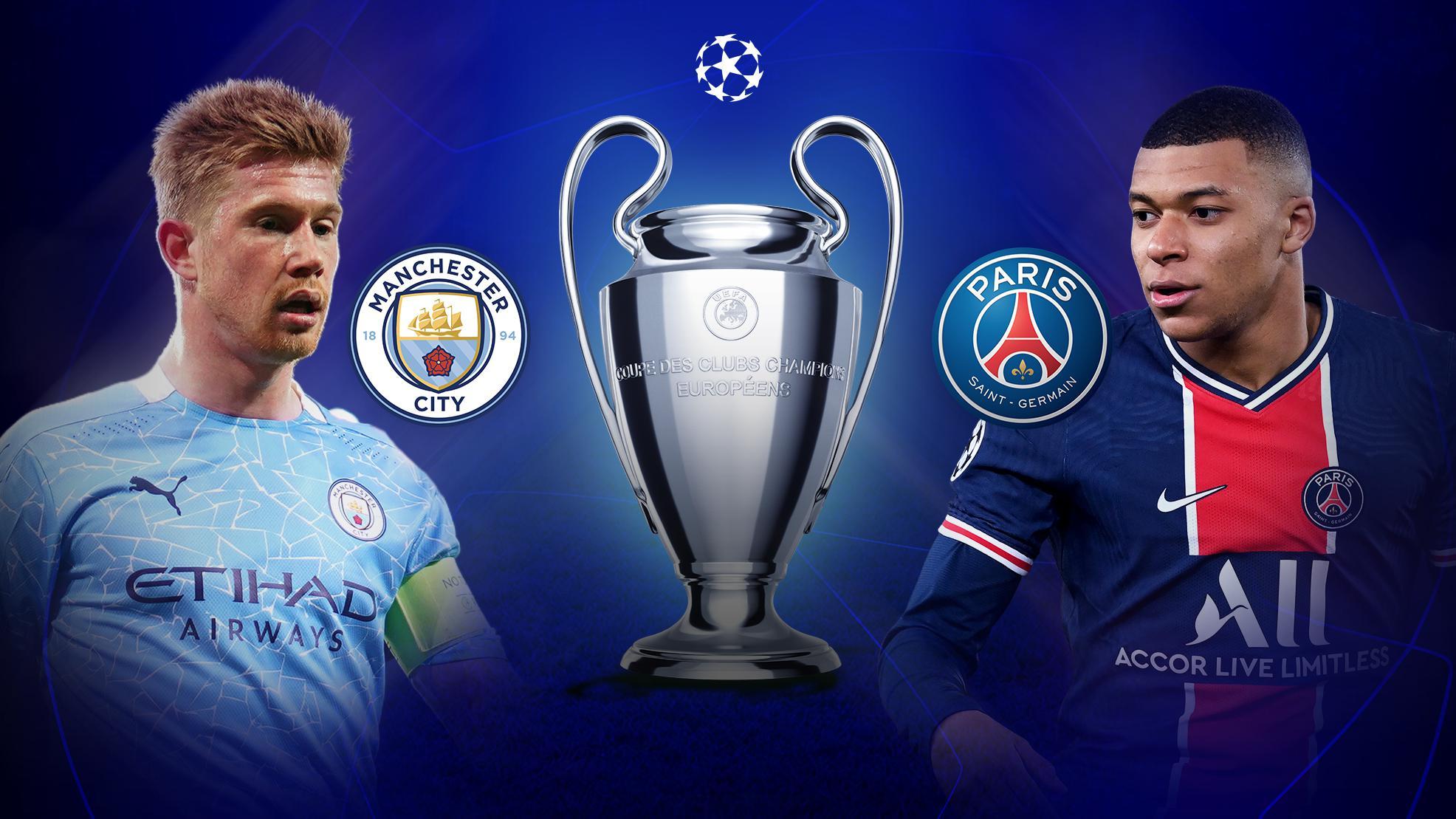 معلق مباراة مانشستر سيتي ضد باريس سان جيرمان اليوم والقنوات الناقلة في دوري أبطال أوروبا