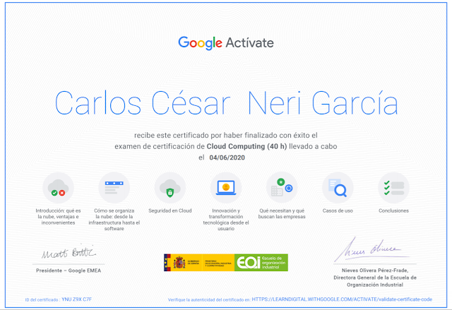 Certificación Cloud Computing
