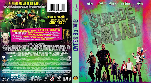 Suicide Squad Bluray Cover