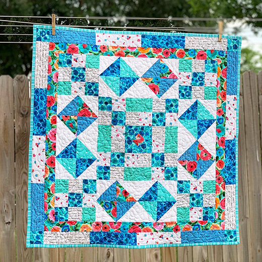 Texas Square Dance Quilt designed by Fort Worth Fabric Studio