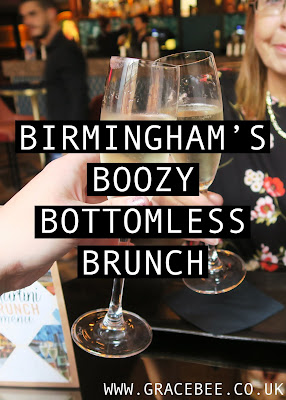 "Pinterest image, text states ""Birmingham Boozy Bottomless Brunch"""
