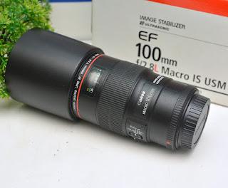 Lensa Canon 100mm f2.8 L IS USM Bekas
