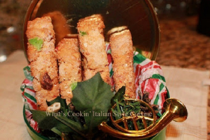 this is a spumoni cookie Italian biscotti