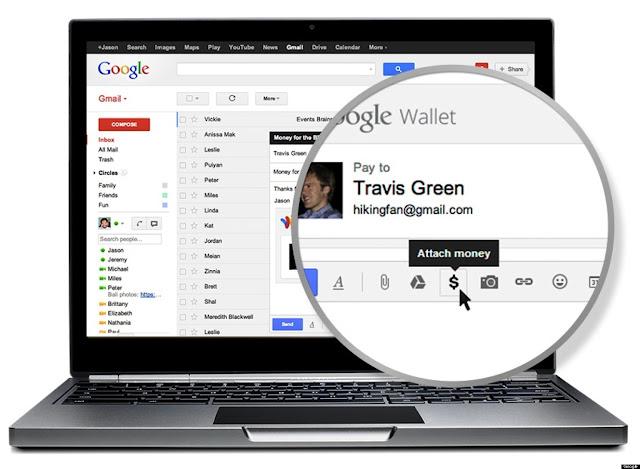 gmail tranfer money