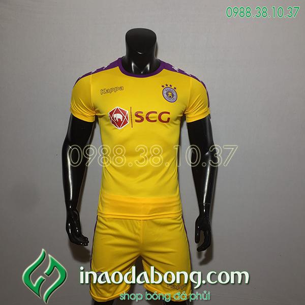 Áo bóng đá câu lạc bộ hà Nội màu vàng 2020