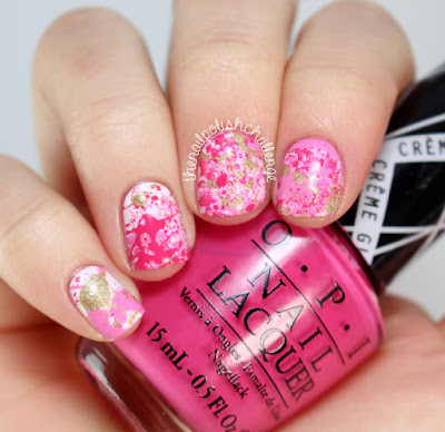 Nail Art Splatter Paint