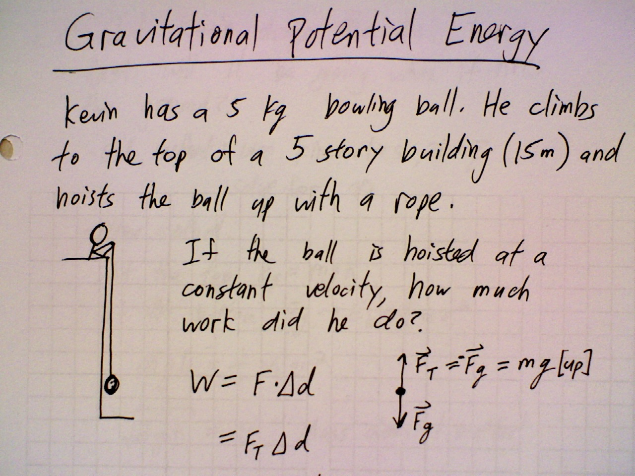 May 10 Class Gravitational Potential Energy