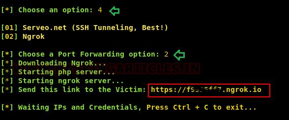 Shellphish: A Phishing Tool
