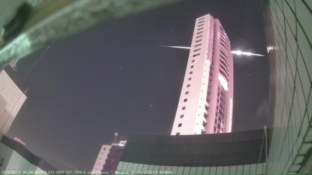 Meteoro mais brilhante que o planeta Vênus é visto em João Pessoa
