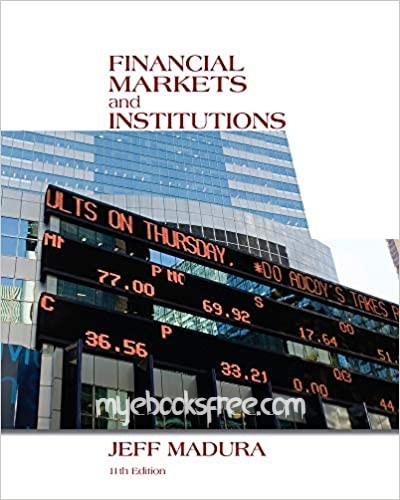 Financial Markets and Institutions Pdf Book Download 11e by Madura