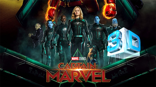 Capitana Marvel (2019) 3D SBS Full 1080p Latino-Castellano-Ingles