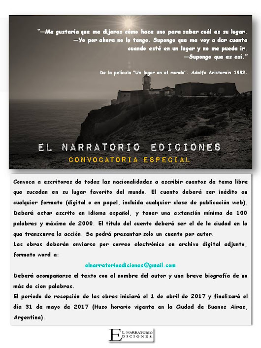 CONVOCATORIA ESPECIAL - EL NARRATORIO EDICIONES