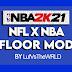 NBA 2K21 NFL x NBA Floor Mod (Arizona, Oakland) by LufVsTheWRLD