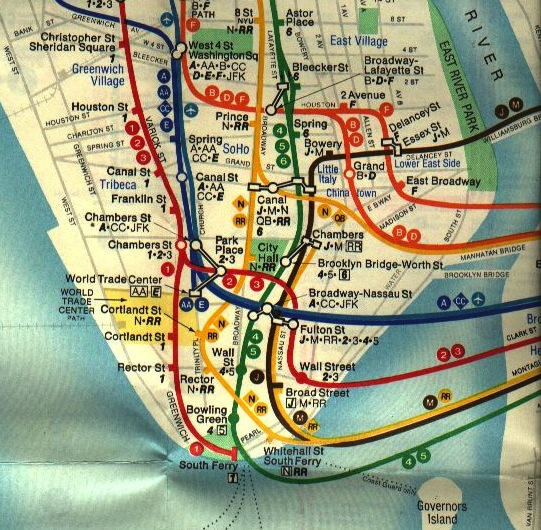 Subway Map From 14th To Chambers.Ev Grieve Mta Eliminates That Pesky Alphabet City In New Subway Map