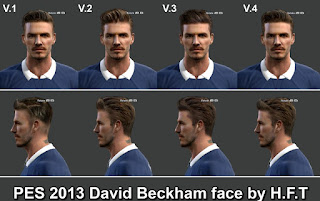 David Beckham face Pes 2013 by Vicen