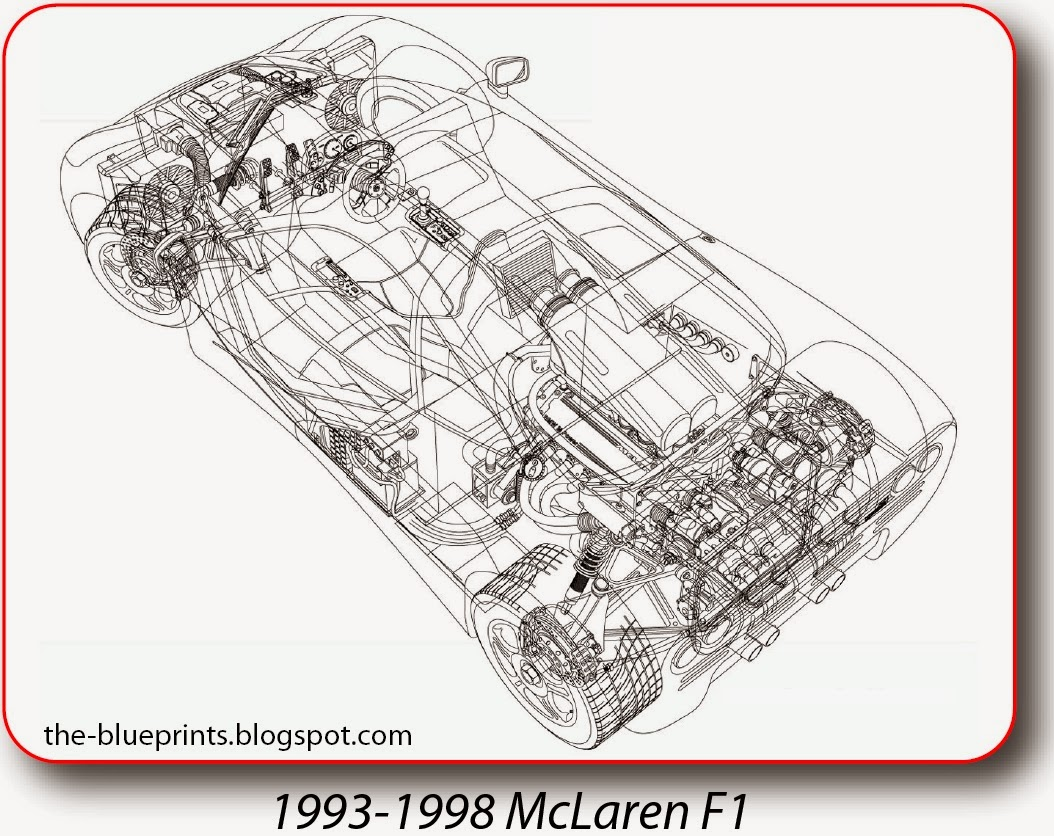 vector blueprints - cars, trucks, busses and others: mclaren