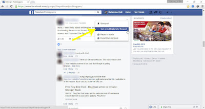 In the menu that appears, click on Turn on notifications for this post - How to Follow a Facebook Post without Commenting