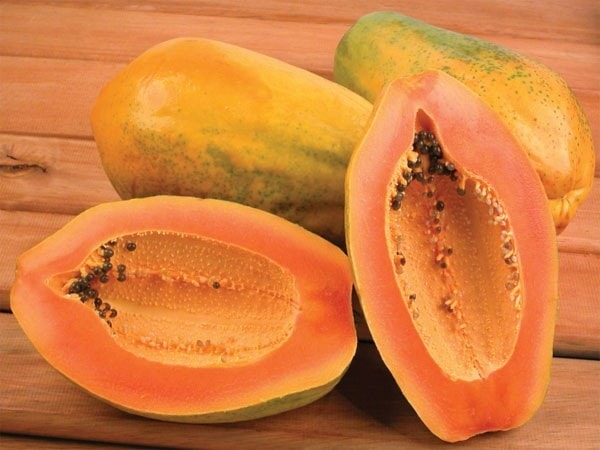 What is the benefit of papaya with disadvantage