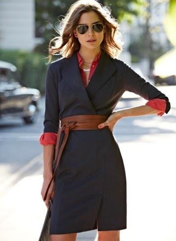 Baukjen Dress with Obi Belt for Stylish Work Outfit
