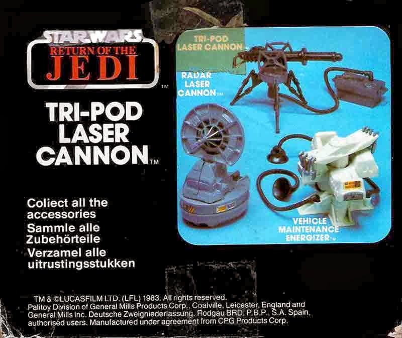 Tripod laser cannon Star Wars chez Kenner