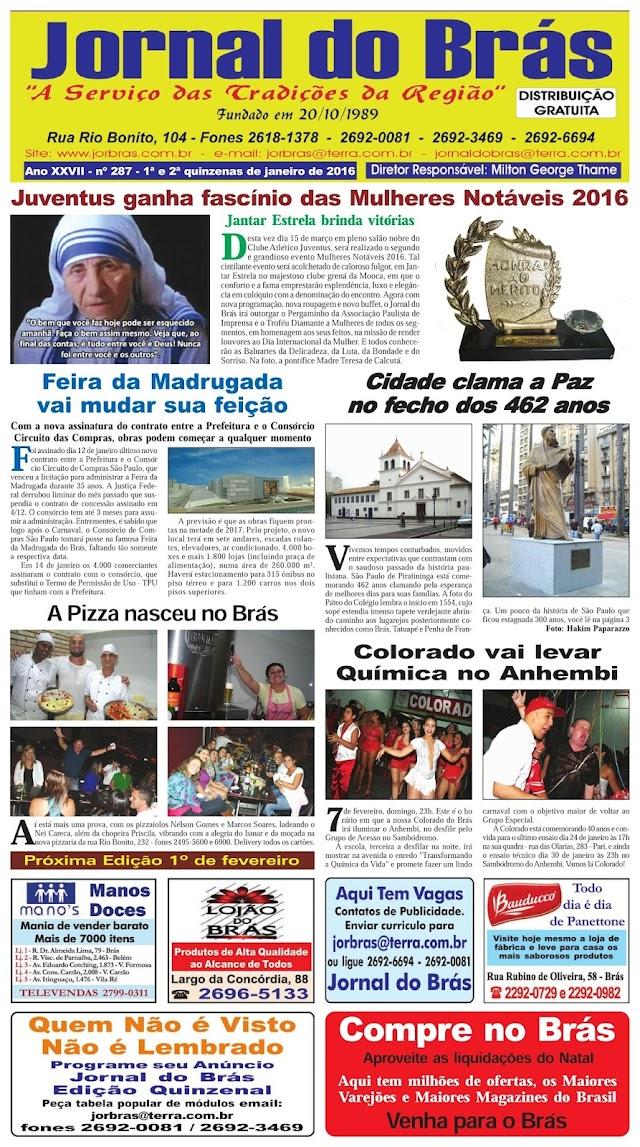 Destaques da Ed. 287 - Jornal do Brás