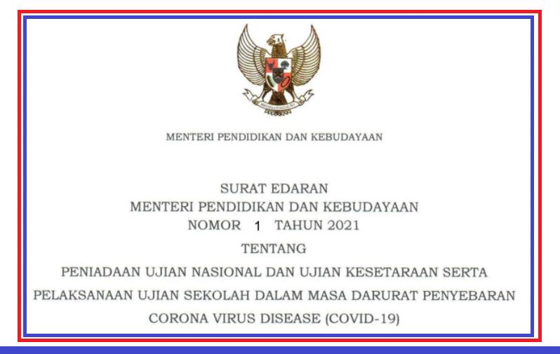 gambar surat edaran mendikbud nomor 1 tahun 2021