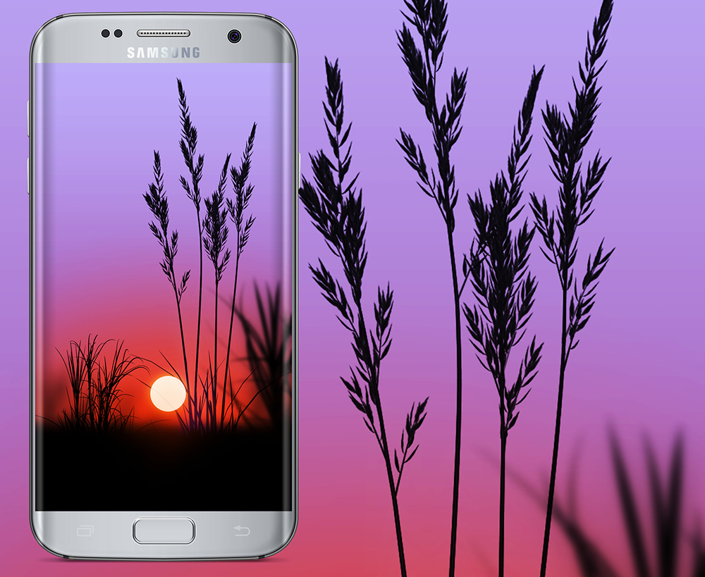 Free Wallpaper Phone: Sunset Wallpapers Galaxy S7 Edge