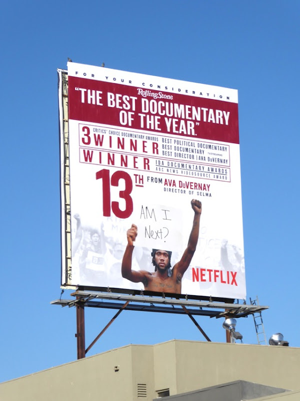 13th Best documentary of the year billboard
