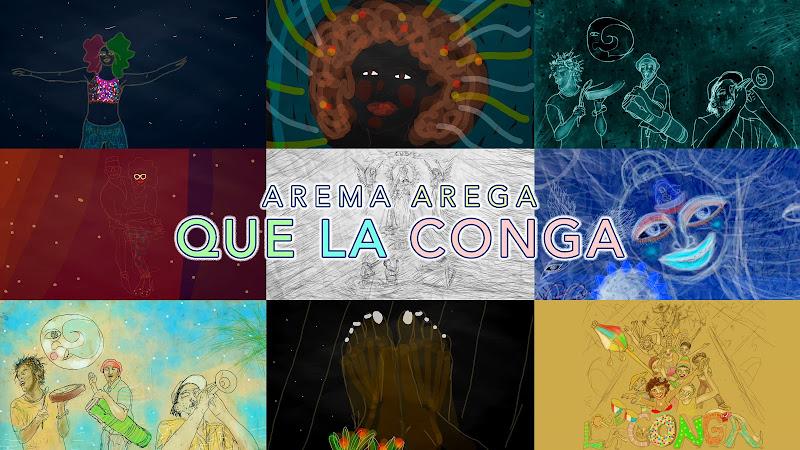 Arema Arega - ¨Que La Conga¨ - Videoclip / Dibujo Animado - Directora: Arema Arega. Portal Del Vídeo Clip Cubano