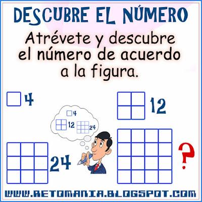 Piensa rápido, Ubica los números, Descubre los números, Retos matemáticos, Desafíos matemáticos, Problemas matemáticos, Solo para genios, Descubre el número