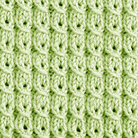 Textured Knitting 7: Yarn over Mock Cable| Knitting Stitch Patterns. These mock cables are created without the use of a cable needle