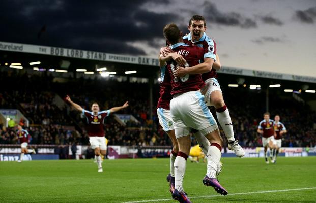 Selebrasi kemenangan Burnley dimenit akhir atas Crystal Palace