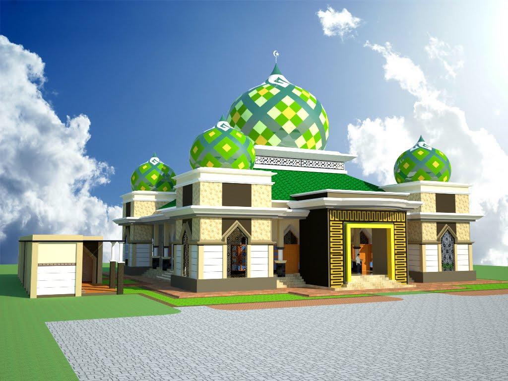 Gapura Masjid Minimalis Terbaru 40 Warna Cat Pintu Gerbang Masjid Trend Saat Ini