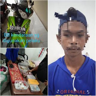 Warga Bongki di amankan Oleh Polisi Dalam  Kasus Pencurian dengan Pemberatan