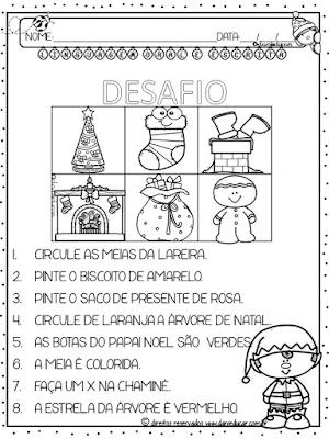 natal, Desafio da leitura, Atividades de alfabetização, Atividades com frases, Atividades de leitura,