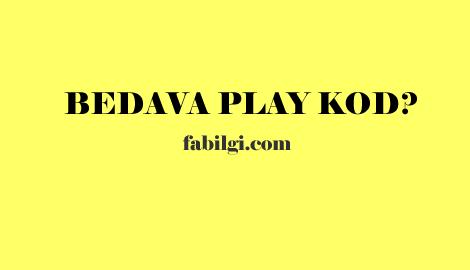 Bedava Google Play Kod Veren Yeni Uygulama - Görev Yap Kazan 2020