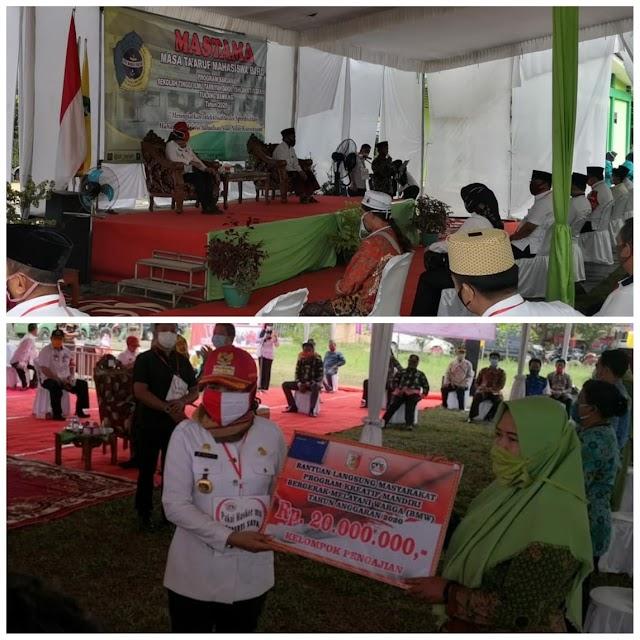 Bupati Winarti Hadiri acara  MASTAMA STIT Daris dan Launching program Kreatif Mandiri Bergerak Melayani Warga(BMW) di Kecamatan Banjar Margo