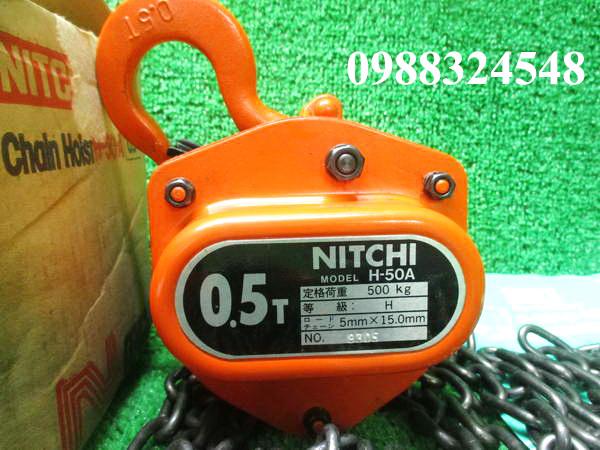 palang kéo tay Nitchi H-50A 500kg