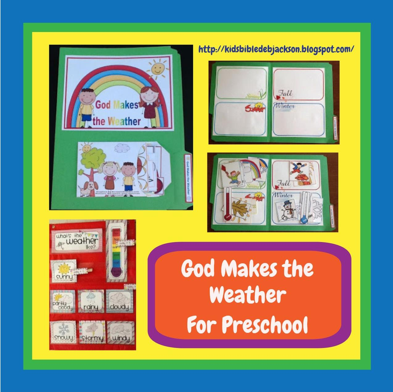 Bible Fun For Kids God Makes The Weather