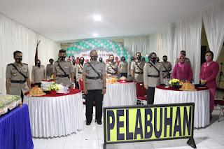 HUT Polwan ke 72, Polres Pelabuhan Makassar Ikuti Upacara Virtual