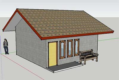 Blog Untung 3 Dimensi Design Rumah Sederhana Dengan Sketch Up