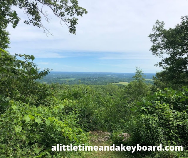 On top of the world with a view at Blue Mound State Park in Wisconsin